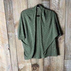 Mossimo Dolman Cocooon Moss Green Knit cardigan